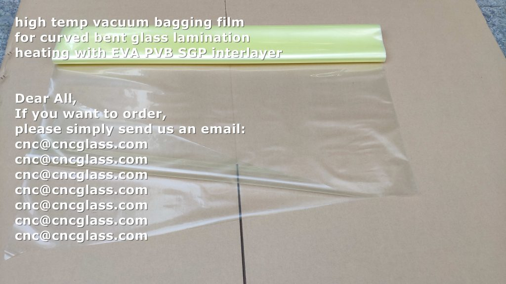 high temp vacuum bagging film for curved bent glass lamination heating with EVA PVB SGP interlayer (6)